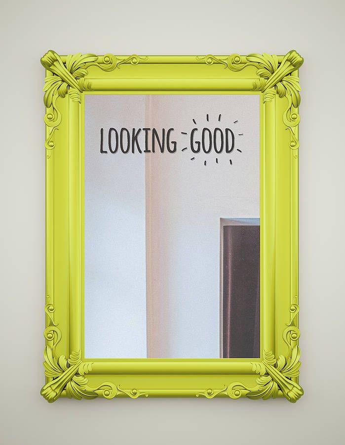 complimentary mirror stickers by oakdene designs | notonthehighstreet.com