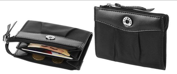 Kleingeld portemonnee. Munten portemonnee met ritssluiting en apart zakje aan de binnenkant. Verpakt in een Balmain geschenkverpakking. Microfiber.