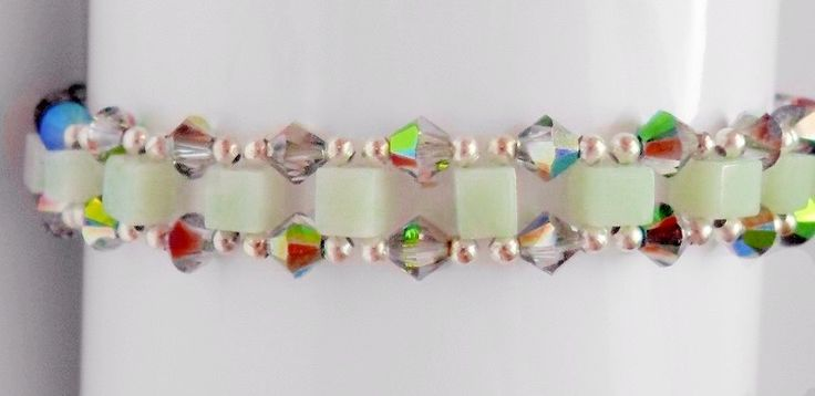 Aventurine and Crystal Bracelet via Paravel Jewellery. Click on the image to see more!