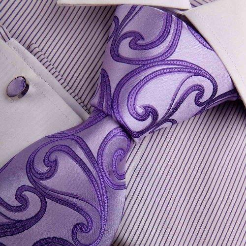 Purple Paisley Woven Silk Tie