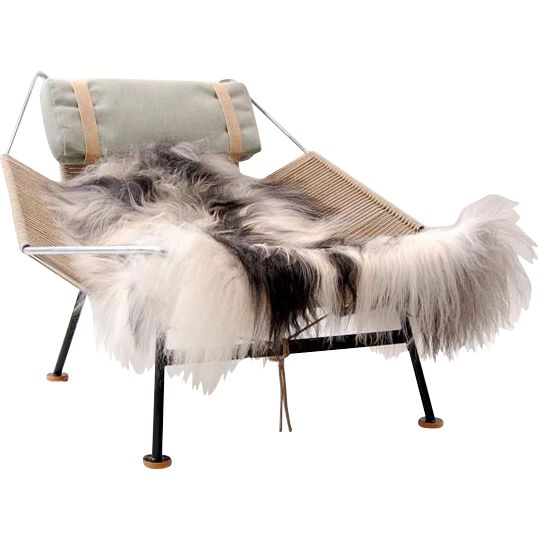 The Flag Halyard Chair, model GE225 by Hans J. Wegner from Oljos at  Rubylux.com