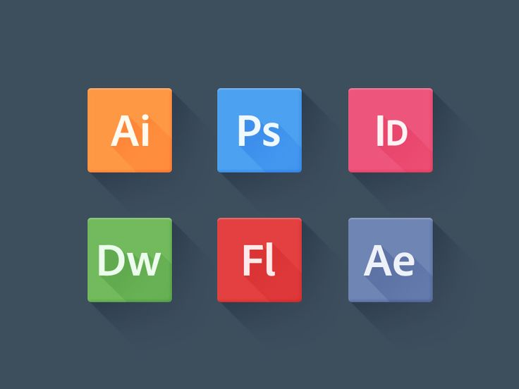 Adobe mnemonic icons and the long shadow design trend by Geoffrey Brailsford via The Ultra Linx