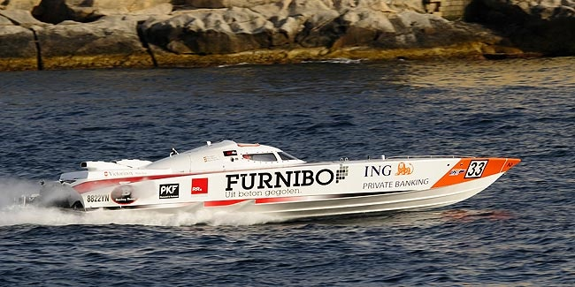 2B1Racing Team Fountain powerboat, Belgian team with Pierre Colpin and Frank Hemelaer, photo (c) Medianaut.be for Powerboating.be