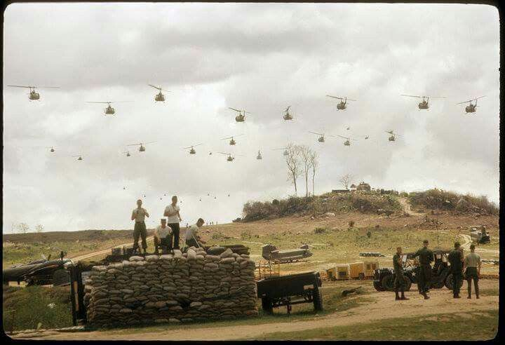 """Birds in the Air! 1st Cavalry Division air assault, An Khe 1968......"""""""