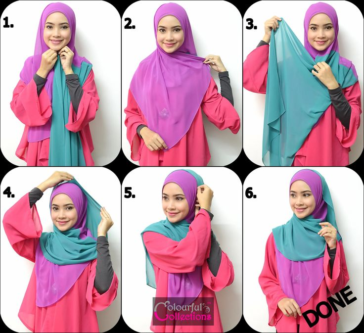 hijab shawl tutorial - stepbystep