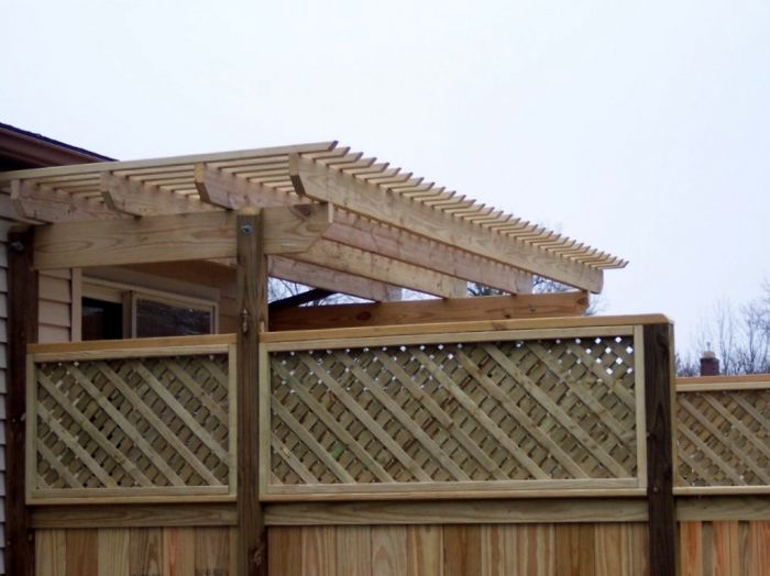 21 best images about decks with pergolas trellis on for Deck trellis