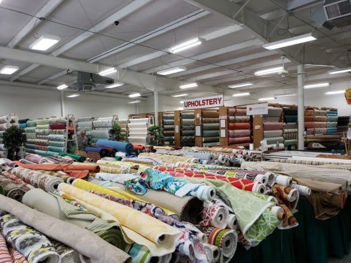The Massive Fabric Warehouse In North Carolina Foam And Fabrics Outlet Is A Crafter S Dream Come True Fabric Outlet Fabric Stores Online Fabric Store
