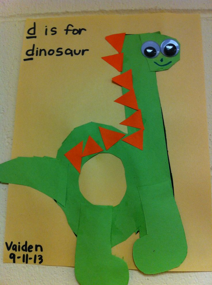 60 best lowercase letter crafts images on pinterest for Dinosaur crafts for preschool