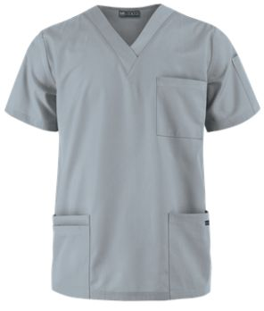 UA Butter-Soft STRETCH Men's V-Neck Scrub Top   Keep on moving in this men's flexible scrub top! Exclusively from our Butter-Soft Stretch collection, the v-neck style and roomy fit of this top provides all-day comfort. Style # BSS705 #uniformadvantage #uascrubs #adayinscrubs #gray #scrubs #mensscrubs #nurse #nursingscrubs