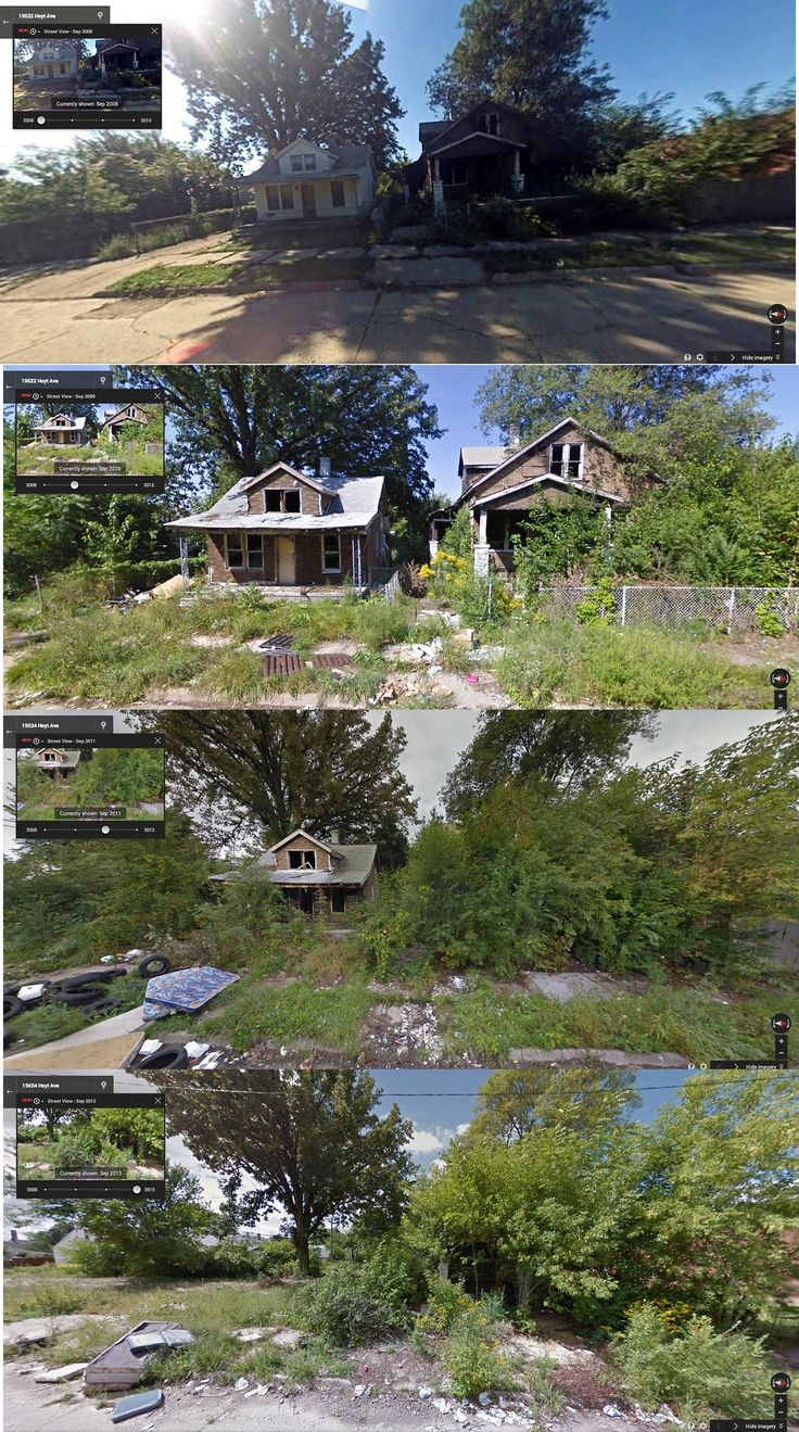 Hoyt Avenue, Detroit (2008, 2009, 2011, 2013) Intense Before-and-After Google Street View Pictures Perfectly Capture Detroit's Decline - PolicyMic