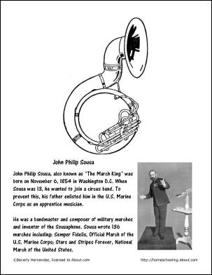 John Philip Sousa Coloring Page