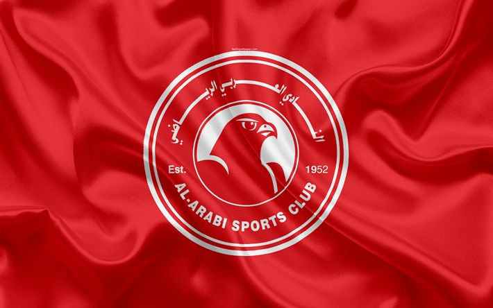 Download wallpapers Al-Arabi SC, 4k, Qatar Football Club, Al Arabi FC, emblem, logo, Qatar Stars League, Doha, Qatar, football