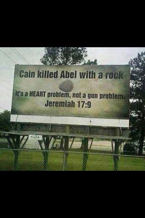 Enough with gun control. Guns are not the problem, it's a sin problem and sin will be until the end.