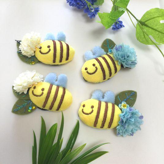 ぷくぷくミツバチのパッチンピン