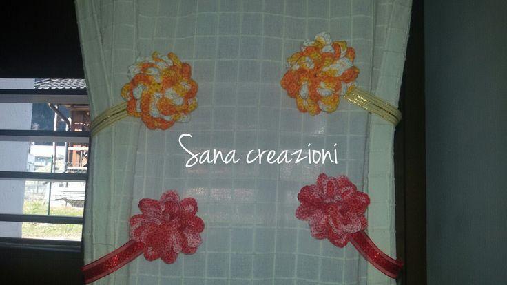 #sanacreazioni #handmade #creation #primavera #decorazioni #artigianale #crocket #uncinetto #calamitetende