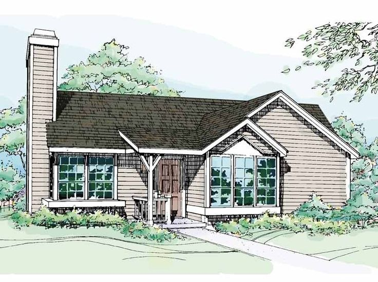 Eplans cottage house plan two bedroom cottage 1016 for Eplans cottage house plan