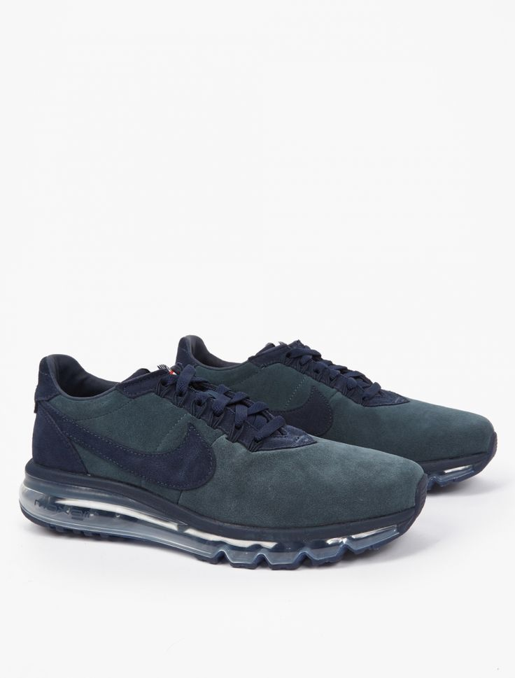 The Nike Nike Air Max LD-Zero Sneakers for AW16, seen here in dark grey.  Designed in collaboration with Fragment's Hiroshi Fujiwara, Nike's Air Max LD-Zero offers an updated take on the innovative LD-1000. Crafted from premium suede, the sneaker sits atop a transparent 360 Air Max sole unit for ultimate comfort and performance. The boundary-pushing sneakers are finished with subtle branding throughout.