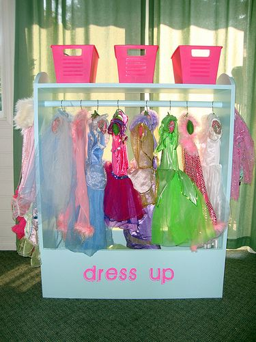 Dress Up Center: Idea, Craft, Dress Up Storage, Dress Up Clothes, My Girl, Dresses, Diy Project, Dress Up Stations, Kid