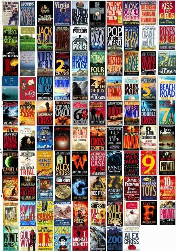 """Anything James Patterson...I have read every James Patterson book I could get my hands on.  I love them all!  Even the teen/young adult series.  He is an amazing author!  I just finished reading """"Kill Alex Cross"""" and I have """"Zoo"""" loaded on my Kindle Fire waiting to be read."""