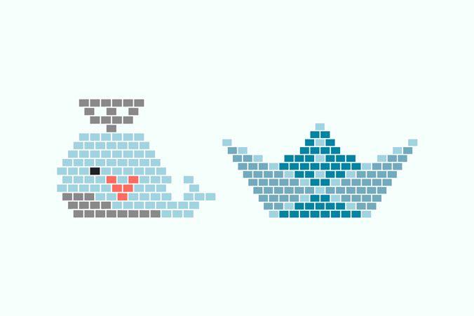 Diagrammes Miyuki gratuits - tissage brick stitch