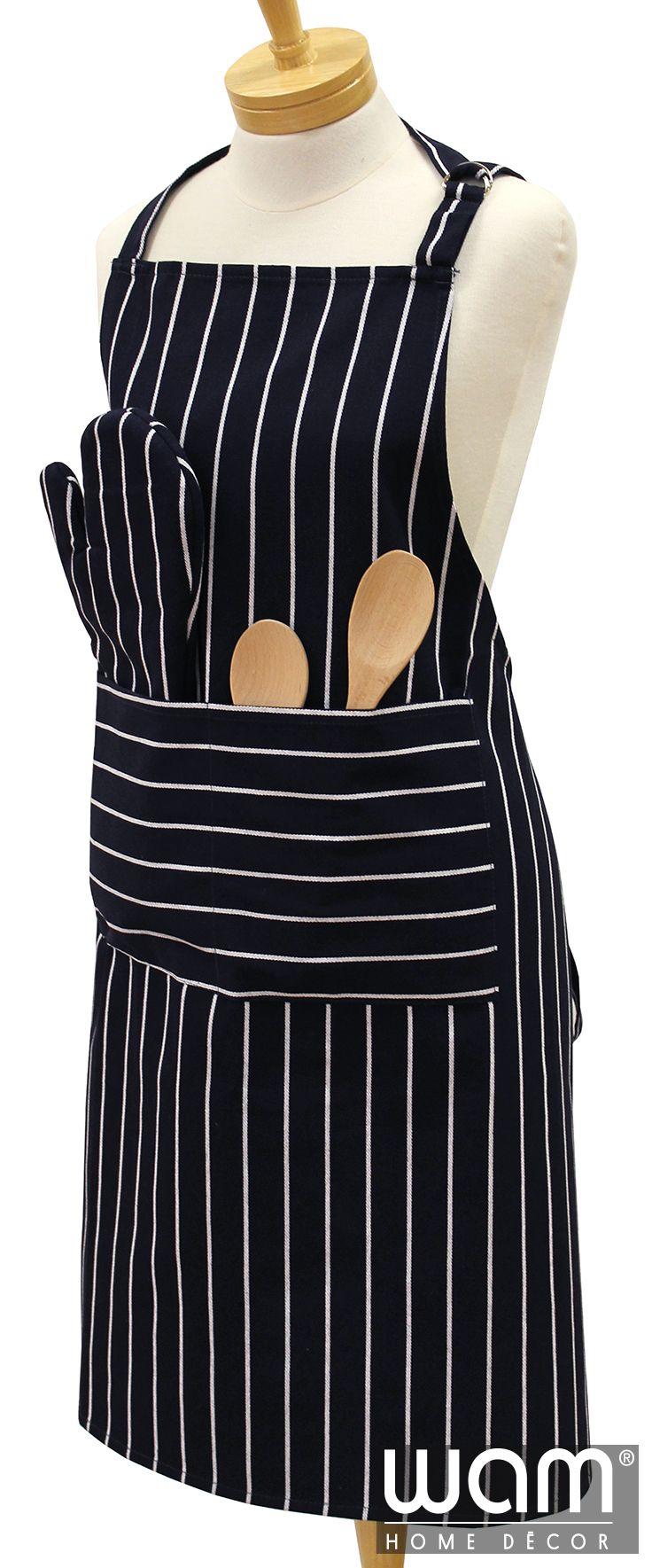 Butcher Stripe Apron www.wamhomedecor.com.au