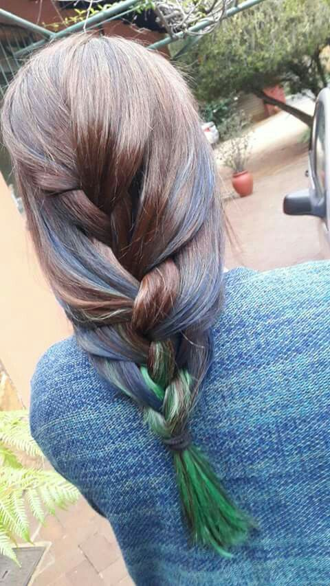 Blue and green ombre by minx
