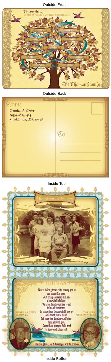 Family Reunion Invite - She designed this for a family reunion for my family.  It was well received : )