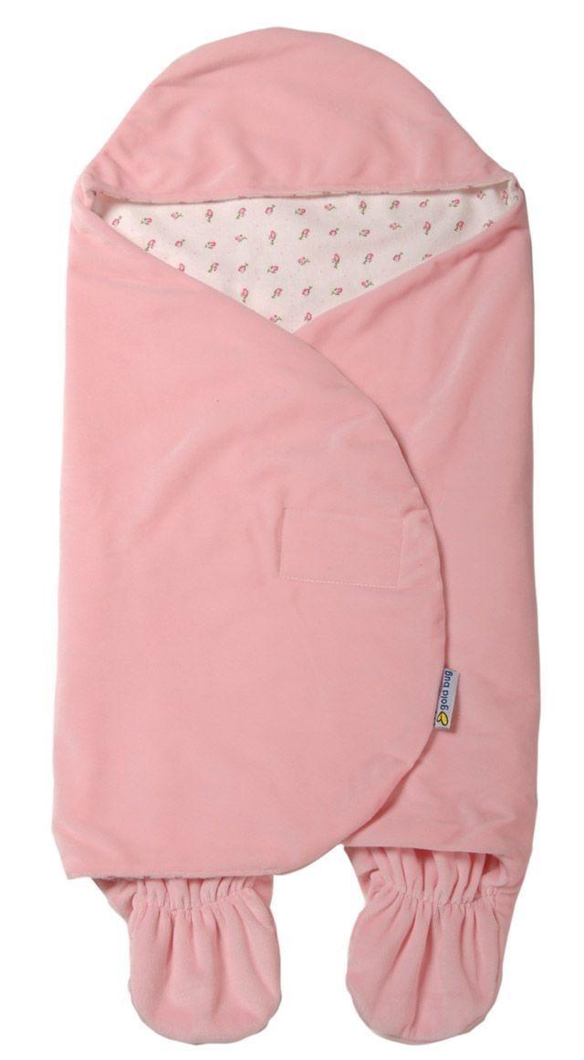 COZY_Goldbug_Swaddle_Wrap_Baby_Newborn_Infant_Girl_Pink_Flower_Car_Seat_Blanket