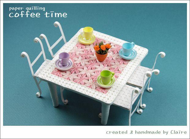 81 best images about 3d quilling objetos on pinterest for Quilling kitchen set