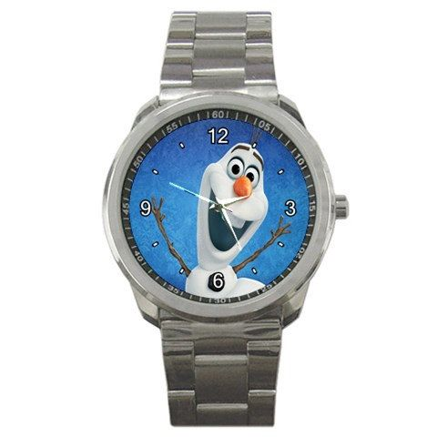 New Frozen Inspired Olaf The Snowman logo mens sport by tukangpos