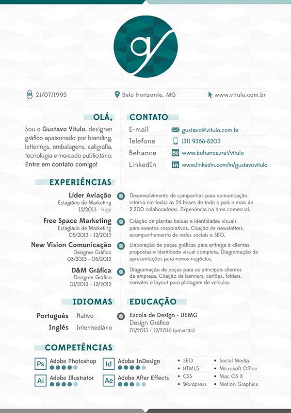 Currículo Criativo / Curriculum Vitae / Personal Resume #CV #CurriculumVitae #Resume