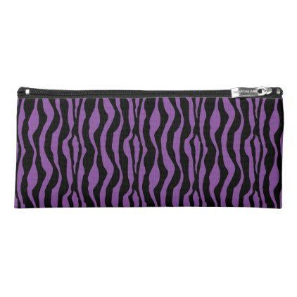 #chic - #Chic Designer Purple Zebra Print Pencil Case