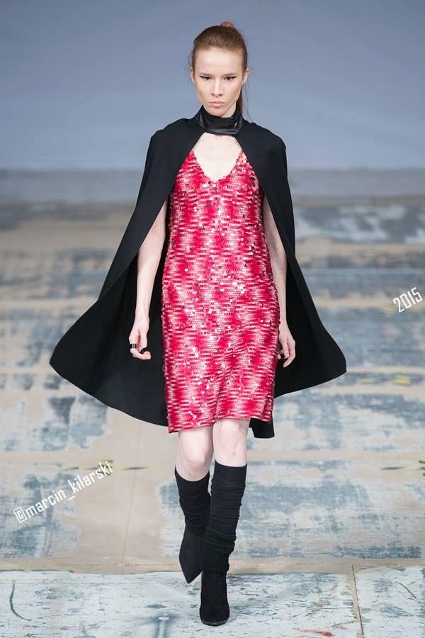 Red Wine Dress, Wool Cape