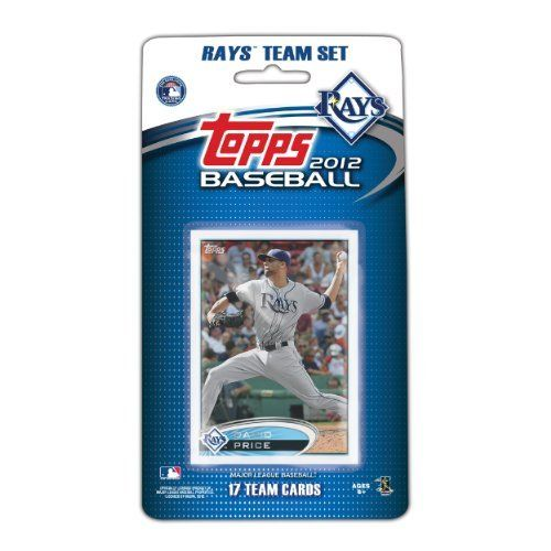 MLB Tampa Bay Rays 2012 Topps Team Set by Topps. Save 44 Off!. $8.25. This is the official 2012 Topps MLB Team set - the official card of Major League Baseball. This set will contain 17 cards, the 17th card is a bonus exclusive to the set. That's right, this set is the only place to get this card, which will be of the ballpark of the team. All 17 cards will be packaged in a blister and then sealed on peggable card. This set is a great way to introduce fans to card collecting, and a ...