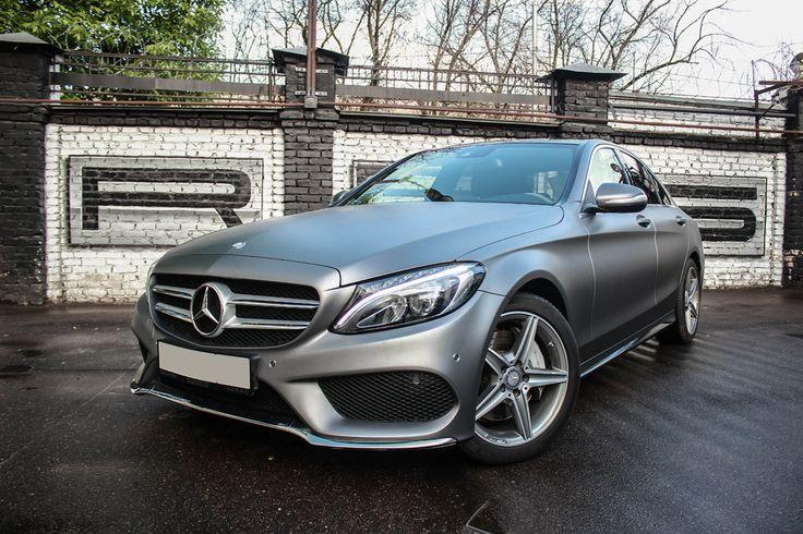 "Mercedes C250 AMG wrapped in grey matte  Серая матовая ""Цешка"""