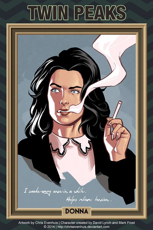 Comic book Style Twin Peaks Character by Chris Evenhuis