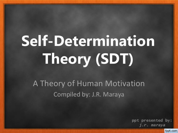 Self-Determination Theory by Dr. Edward L. Deci and Dr. Richard M. Ryan. A Theory of Motivation