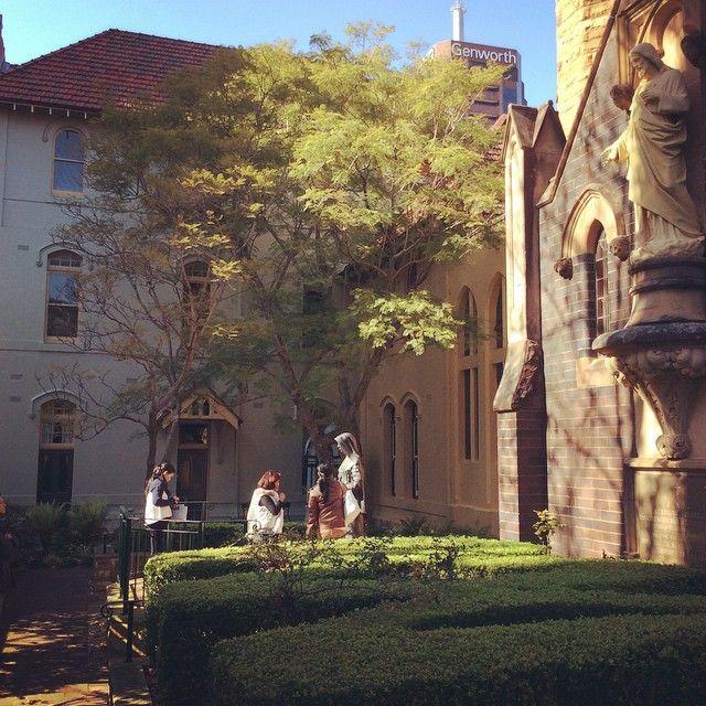 St Mary MacKillop bronze statue located at Mary MacKillop Chapel North Sydney #MaryMacKillopPlace