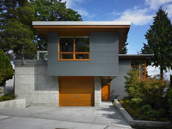 Nice use of recycled materials in this house, designed by Adams Mohler Ghillino Architects
