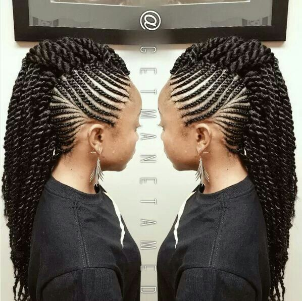 Crochet Mohawk Braided Mohawk Hairstyles Natural Hair