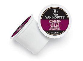 Van Houtte Chocolate Raspberry Truffle Coffee Blend Light Roast Kcups 24ct