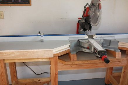 Miter Saw Table Shop Ideas Pinterest Miter Saw Table