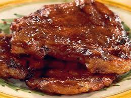 Pork chops with apricot glaze. YUM!