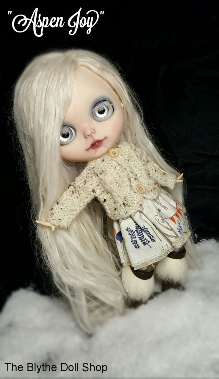 Custom Blythe suri alpaca reroot ooak photography doll collectors doll BJD ball jointed pullip winter doll big eyes by TheBlytheDollShop on Etsy