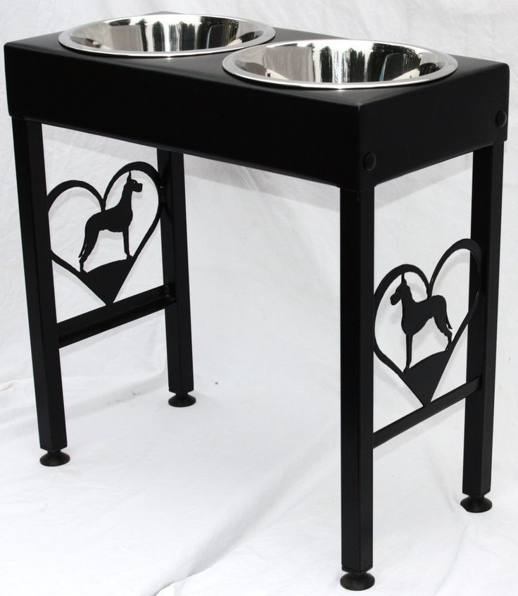 Great Dane Dog Feeder Elevated Raised Metal Art Floor Stand Single, Double or Triple Bowls by ModernIronworks on Etsy https://www.etsy.com/listing/61142028/great-dane-dog-feeder-elevated-raised