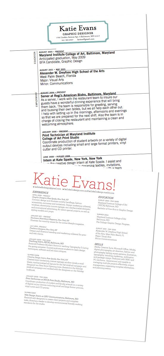 Cool resume examples