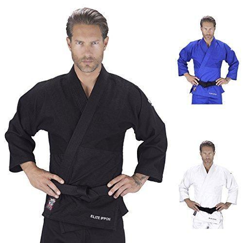 Elite Sports Deluxe Adult IJF Judo Gi w/ Preshrunk Fabric & Free Belt