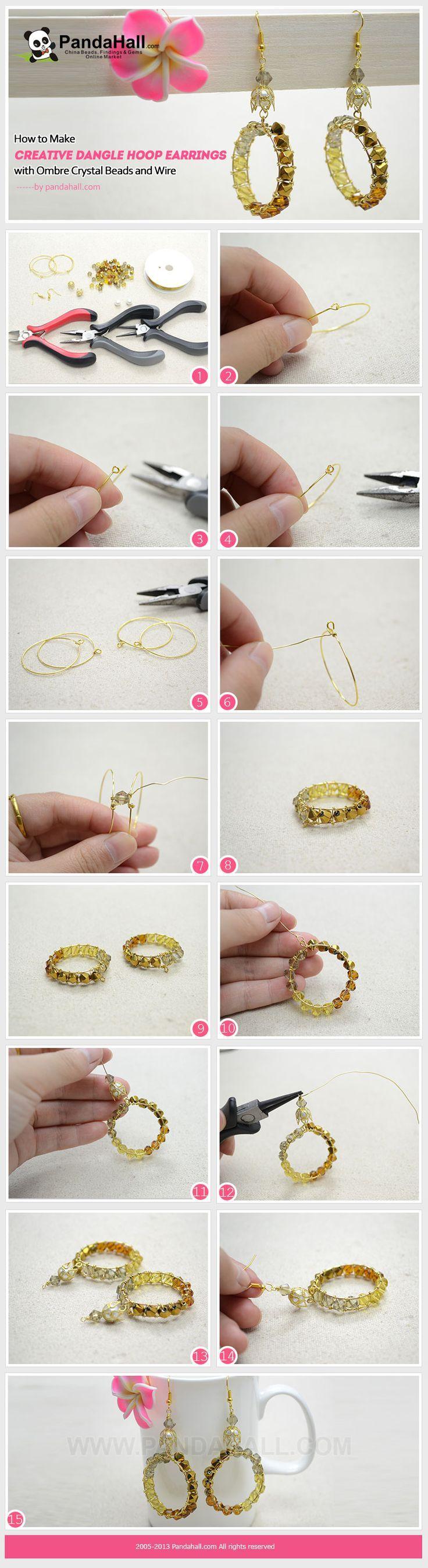 Die 25+ besten DIY earrings hoops Ideen auf Pinterest