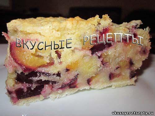 Сухой пирог со сливами
