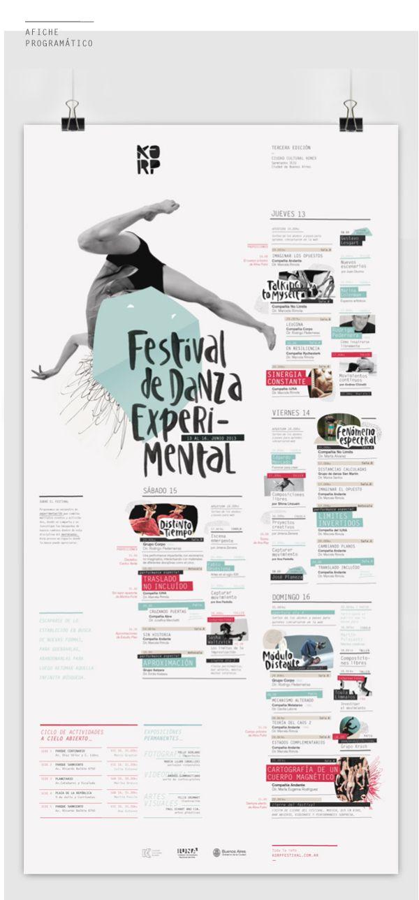 KORP. Festival de Danza Experimental - Parte I on Behance